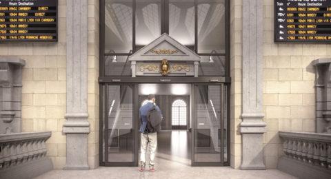 Puerta Automática en Banco, Hotel, Edificio