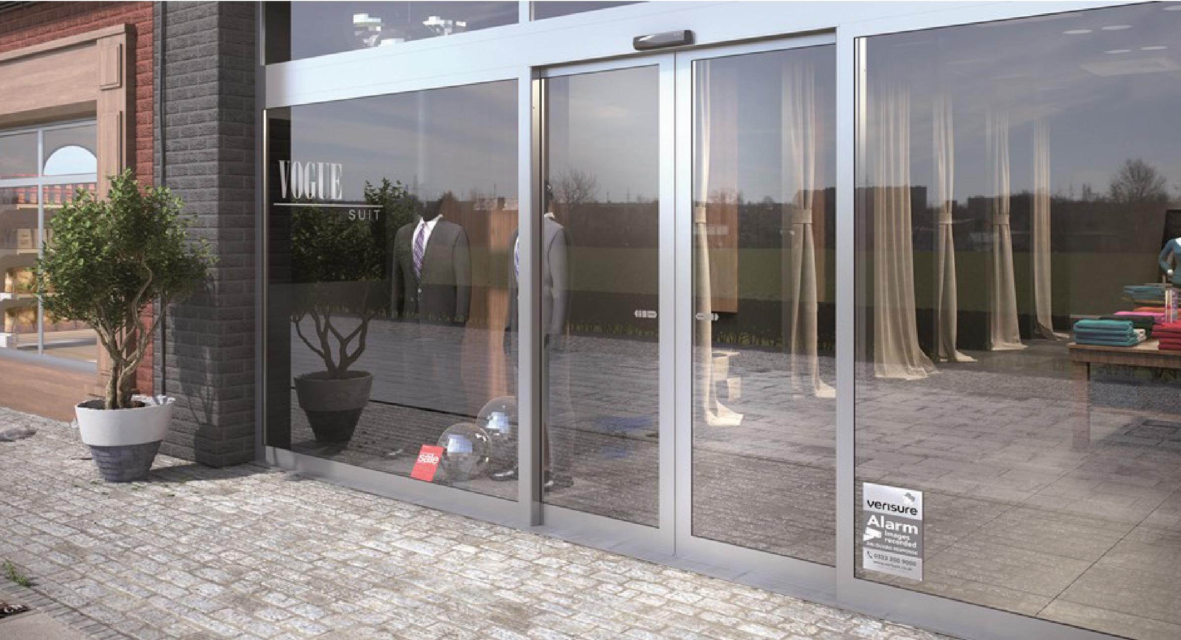 Puerta autom tica instalada en local comercial en guadalajara - Puertas automaticas en murcia ...