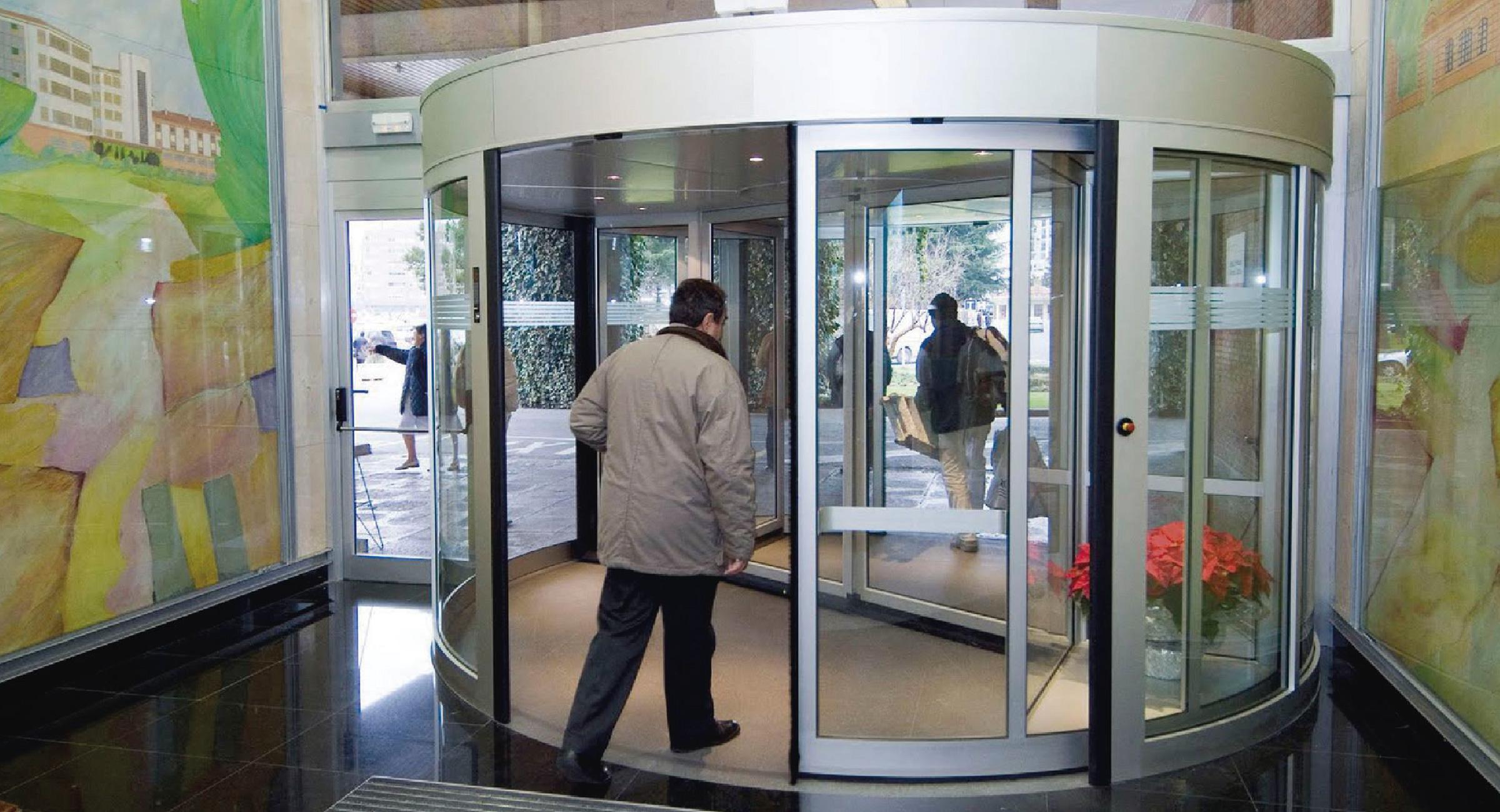 Puertas giratorias para alto flujo de gente en guadalajara for Puerta giratoria